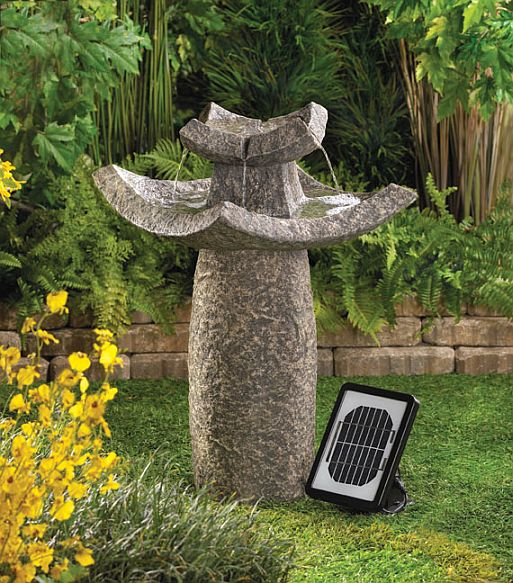Graceful Solar Water Fountain