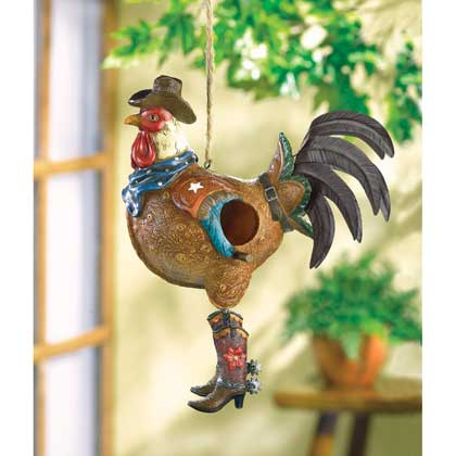 Birdhouse-Western Theme Rooster