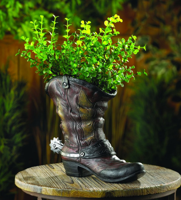 Western Style Boot Planter