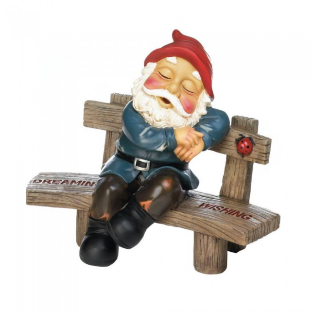 Dreaming and Wishing Garden Gnome
