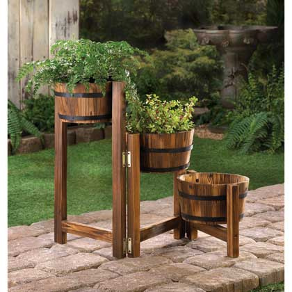 Rustic Three Tier Planters