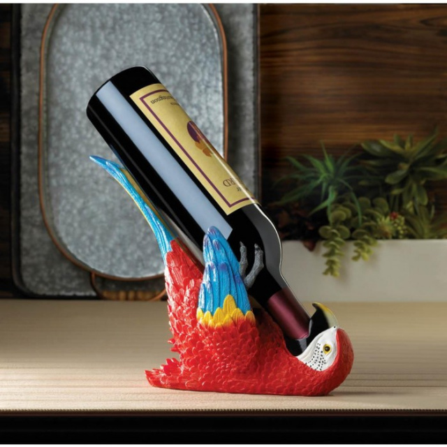 Colorful Parrot Wine Holder