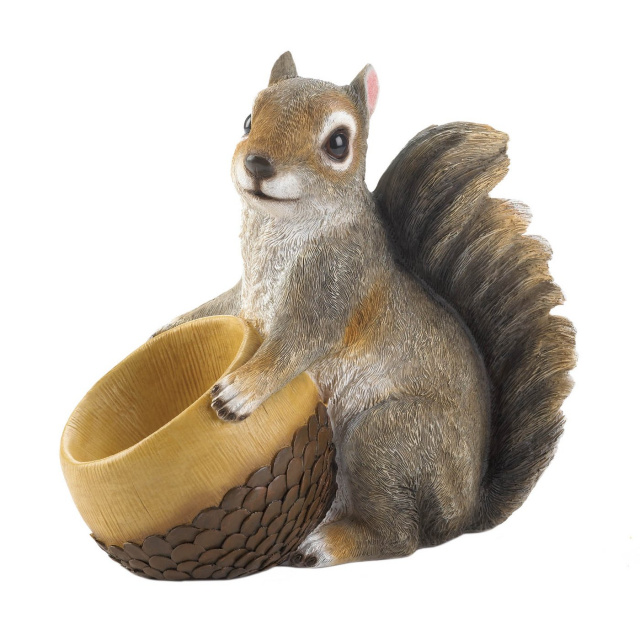 Adorable Squirrel Bird Feeder