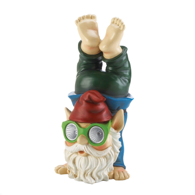 Playful Solar Gnome Figurine